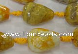 CAG5733 15 inches 15*20mm faceted teardrop fire crackle agate beads