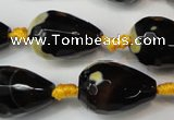 CAG5738 15 inches 15*20mm faceted teardrop fire crackle agate beads