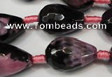 CAG5740 15 inches 15*20mm faceted teardrop fire crackle agate beads