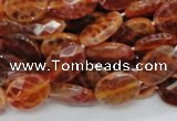 CAG575 15.5 inches 15*20mm faceted oval natural fire agate beads