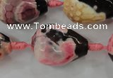 CAG5750 15 inches 18*25mm faceted teardrop fire crackle agate beads