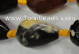 CAG5751 15 inches 18*25mm faceted teardrop fire crackle agate beads