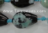 CAG5752 15 inches 18*25mm faceted teardrop fire crackle agate beads