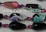 CAG5757 15 inches 10*20mm faceted teardrop fire crackle agate beads