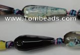CAG5759 15 inches 10*30mm faceted teardrop fire crackle agate beads