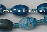 CAG5792 15 inches 13*18mm faceted rice fire crackle agate beads