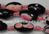 CAG5796 15 inches 13*22mm faceted rice fire crackle agate beads