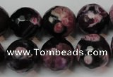 CAG5861 15 inches 16mm faceted round fire crackle agate beads