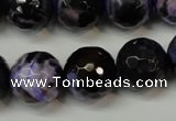 CAG5864 15 inches 16mm faceted round fire crackle agate beads