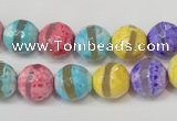 CAG5890 15 inches 10mm faceted round tibetan agate beads wholesale
