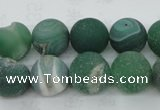CAG5931 15 inches 18mm round matte druzy agate beads wholesale