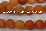 CAG5934 15 inches 10mm round matte druzy agate beads wholesale
