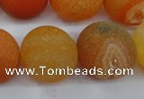 CAG5939 15 inches 20mm round matte druzy agate beads wholesale