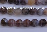 CAG5960 15.5 inches 6mm faceted round botswana agate beads wholesale