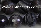 CAG5966 15.5 inches 18mm faceted round botswana agate beads wholesale