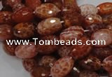 CAG600 15.5 inches 12*16mm faceted rice natural fire agate beads