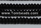 CAG6020 15.5 inches 3*6mm rondelle matte black agate beads