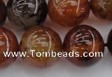 CAG6051 15.5 inches 20mm round dragon veins agate beads