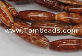 CAG607 15.5 inches 10*20mm rice natural fire agate beads wholesale