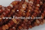 CAG611 15.5 inches 4*6mm faceted rondelle natural fire agate beads