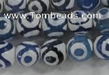 CAG6126 15 inches 10mm faceted round tibetan agate gemstone beads