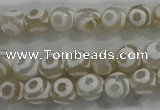 CAG6171 15 inches 10mm faceted round tibetan agate gemstone beads