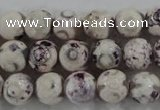 CAG6180 15 inches 10mm faceted round tibetan agate gemstone beads