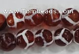 CAG6203 15 inches 14mm faceted round tibetan agate gemstone beads