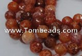CAG621 15.5 inches 10mm faceted round natural fire agate beads