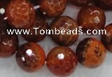 CAG626 15.5 inches 20mm faceted round natural fire agate beads
