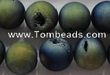 CAG6268 15 inches 20mm round plated druzy agate beads wholesale