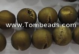 CAG6278 15 inches 20mm round plated druzy agate beads wholesale