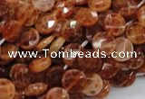 CAG635 15.5 inches 8mm faceted coin natural fire agate beads