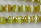 CAG6354 15 inches 8mm faceted round tibetan agate gemstone beads