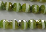 CAG6358 15 inches 8mm faceted round tibetan agate gemstone beads
