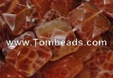 CAG651 15.5 inches 14*14mm faceted square natural fire agate beads