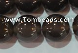 CAG6532 15.5 inches 18mm round Brazilian grey agate beads