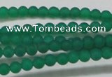 CAG6565 15.5 inches 3mm round matte green agate beads wholesale