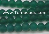 CAG6567 15.5 inches 6mm round matte green agate beads wholesale