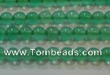 CAG6600 15.5 inches 2mm round green agate gemstone beads