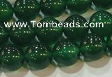 CAG6606 15.5 inches 10mm round green agate gemstone beads
