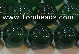 CAG6608 15.5 inches 14mm round green agate gemstone beads