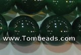 CAG6609 15.5 inches 16mm round green agate gemstone beads