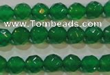 CAG6611 15.5 inches 4mm faceted round green agate gemstone beads
