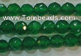 CAG6613 15.5 inches 8mm faceted round green agate gemstone beads