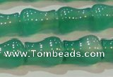 CAG6626 15.5 inches 9*11mm vase-shaped green agate gemstone beads