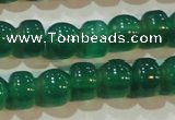 CAG6628 15.5 inches 8*13mm peanut-shaped green agate gemstone beads