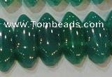 CAG6640 15.5 inches 8*20mm marquise double drilled green agate beads