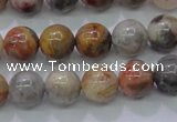 CAG6670 15.5 inches 4mm round natural crazy lace agate beads