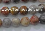 CAG6671 15.5 inches 6mm round natrual crazy lace agate beads
